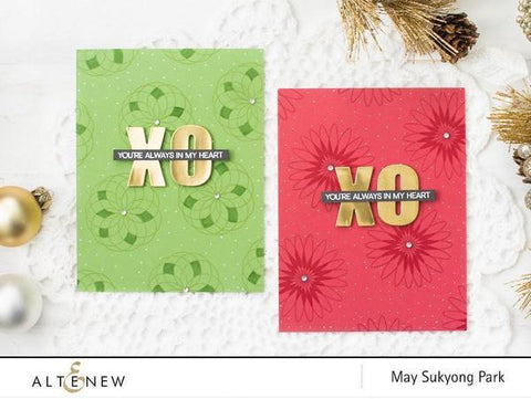 Altenew Geometric Flowers Stamps & Die Bundle
