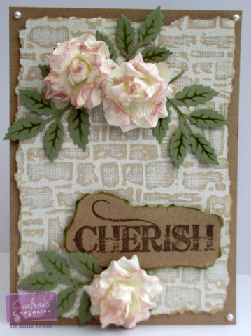"Crafters Companion 5"" X 7"" Textures Embossing Folder - Dry Stone Wall"