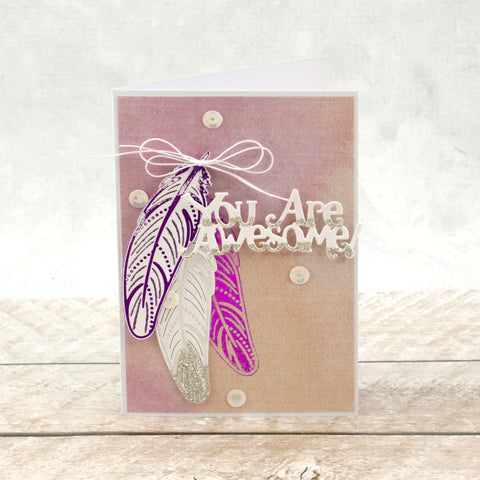 Couture Creations Cut and Foil Die - Nouveau - Delicate Feather
