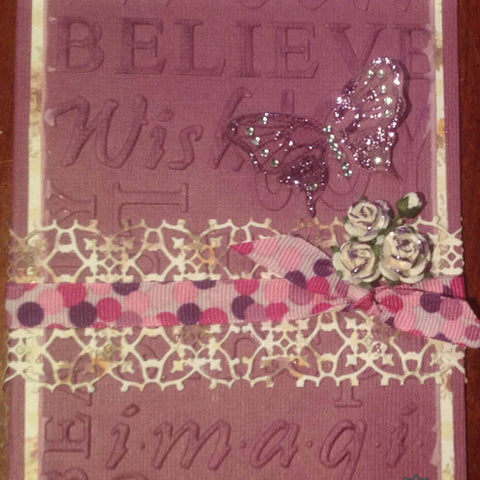 Couture Creations - Hearts Ease - Hearts Ease Words Embossing Folder