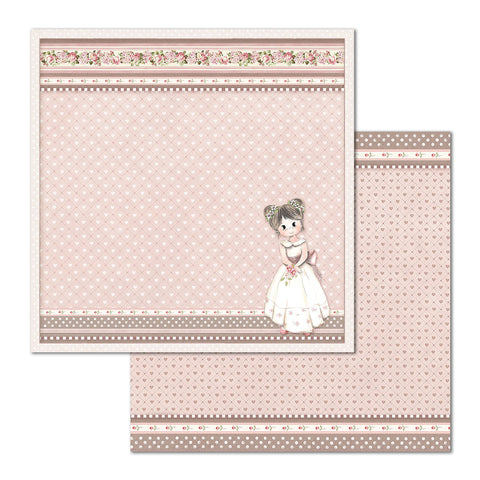 "Stamperia - Block 10 sheets 30.5x30.5 (12""x12"") Double Face Little Girl P"