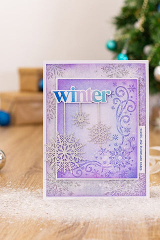 Crafter's Companion - Sara Signature - Glittering Snowflakes Die - Snowflake Flurry