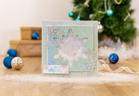 Crafter's Companion - Sara Signature - Glittering Snowflakes Die - Frosted Window