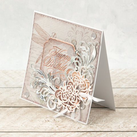 Couture Creations Cut and Foil Die - Nouveau - Sweeping Flourish