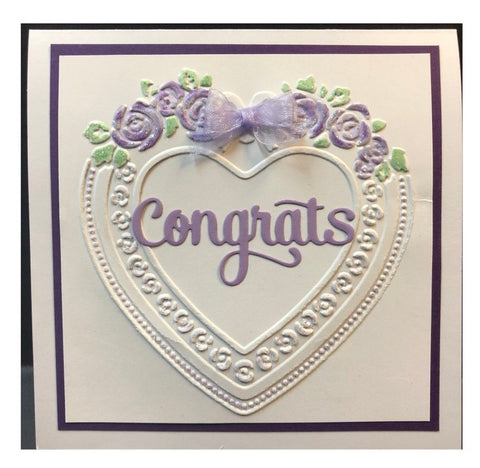 KaiserCraft - Embossing Folder 4x6 Heart Frame