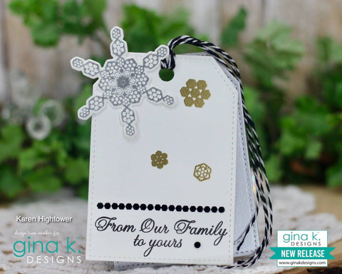 Gina K Designs Holiday Hexagons Stamp and Die Sets