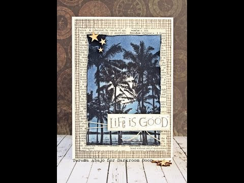 Darkroom Door - Background Stamp - Mesh