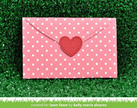 Lawn Fawn - Stitched Heart Envelope Die