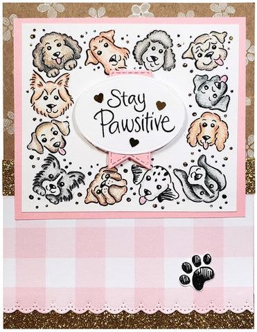 Stampendous - Puppy Frame Perfectly Clear Stamps Set