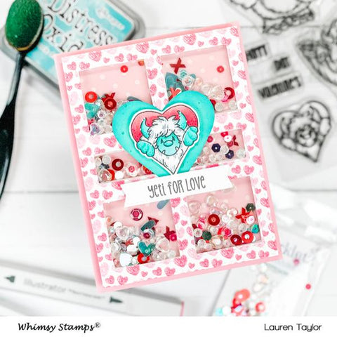 Whimsy Stamps - Yeti for Love Clear Stamps