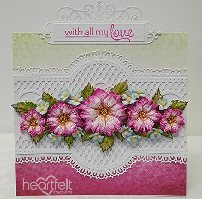 Heartfelt Creations Floral Fashionista Paper Collection