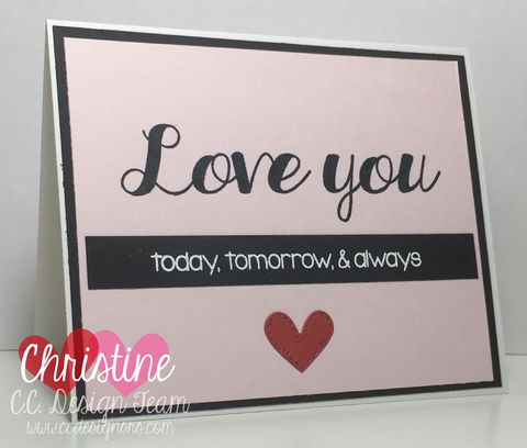 C.C. Designs - Love You Sentiments Clear Stamps