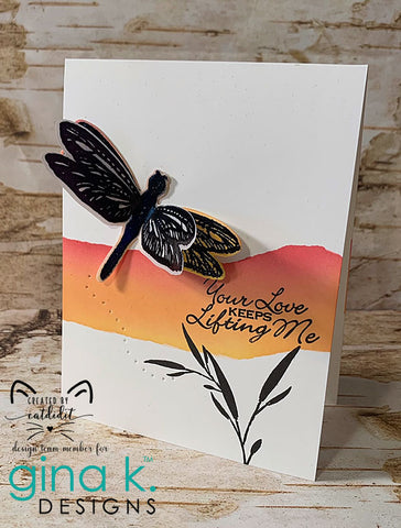 Gina K Designs -  Beautiful Wings Stamp and Die Sets
