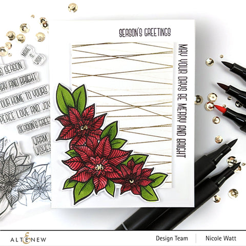 Altenew - Holiday Flower Stamp Set