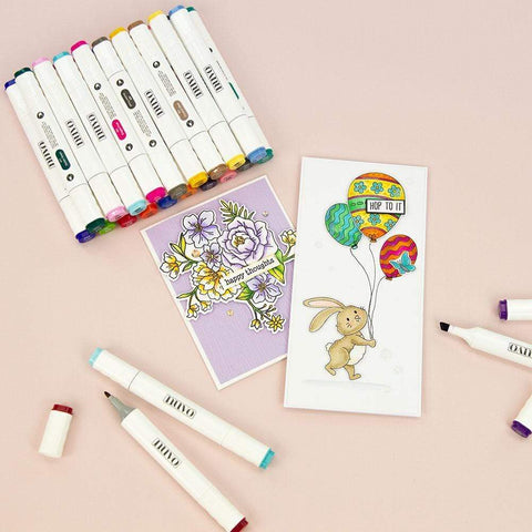 Tonic Studios - Nuvo Alcohol Markers 12/Pkg - Radiant & Bold