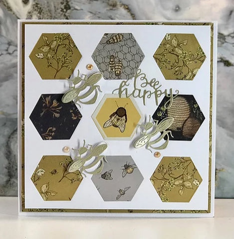 """Craft Consortium - Double-Sided Paper Pad 12""""X12"""" 40/Pkg - Tell The Bees - Special Edition"""
