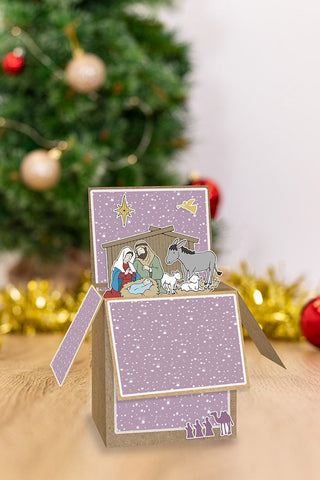 Crafter's Companion - Gemini Pop Up Box Stamp & Die - Away In A Manger