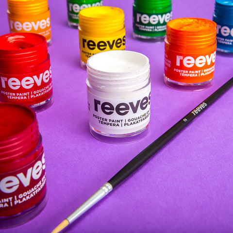 Reeves Poster Paints 22ml x 6 - Kids Painting