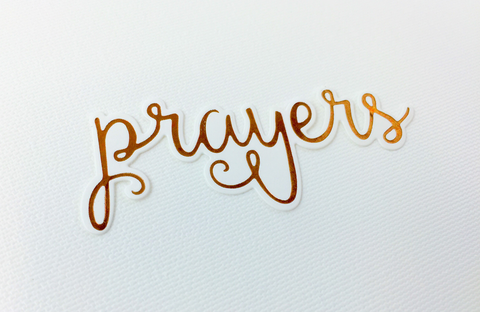 Picket Fence Studios - Prayers Foil Impressions Die