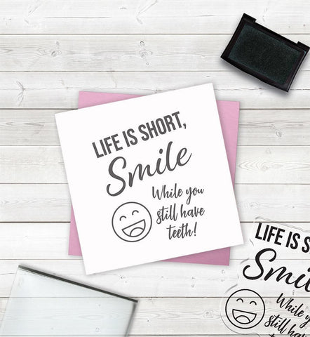 Crafter's Companion - Clear Acrylic Stamps - Smile