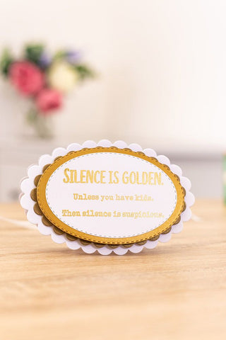 Crafter's Companion Clear Acrylic Stamp - Silence is Golden