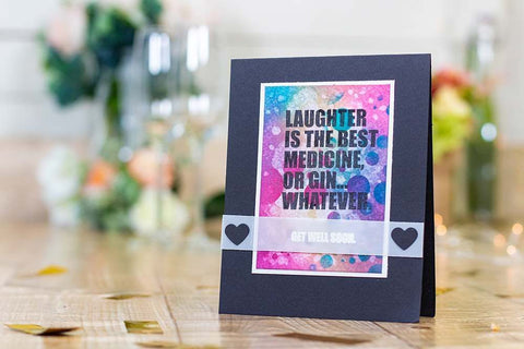 Crafter's Companion - Clear Acrylic Stamps - Get Well Soon