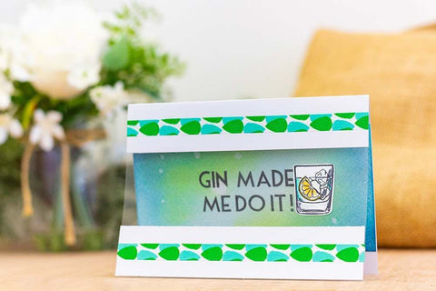 Crafter's Companion - Clear Acrylic Stamps - Gin Made Me