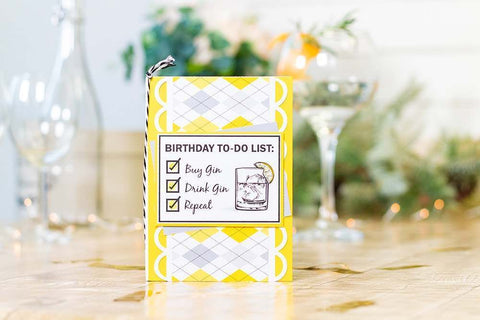 Crafter's Companion - Clear Acrylic Stamps - Birthday To-Do List