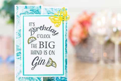 Crafter's Companion - Clear Acrylic Stamps - Birthday O'Clock