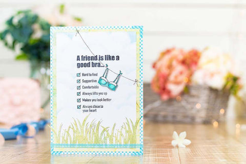 Crafter's Companion - Clear Acrylic Stamps - A Good Friend