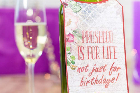 Crafter's Companion - Clear Acrylic Stamps - Prosecco Is For Life