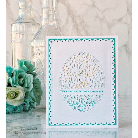Simon Says Stamp - Wafer Die - Filigree Message Oval