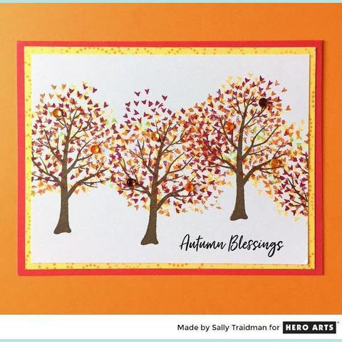 Hero Arts - Color Layering Fall Trees Clear Stamp