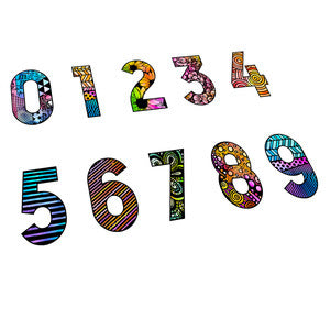 Carabelle Studio - Cling Stamp Small : Numbers