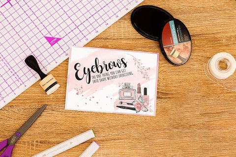Crafter's Companion Clear Acrylic Stamp - Eyebrows