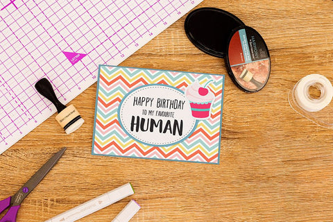 Crafter's Companion Clear Acrylic Stamp - Favourite Human
