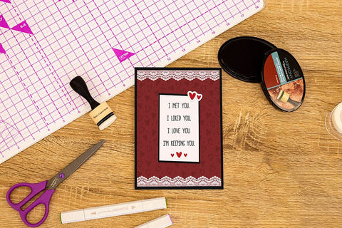 Crafter's Companion Clear Acrylic Stamp - Keeping You