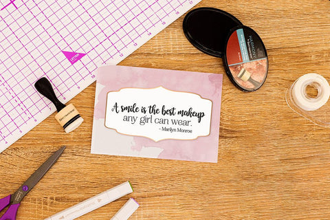 Crafter's Companion Clear Acrylic Stamp - Best Makeup