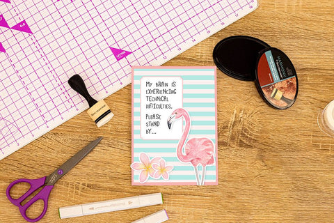Crafter's Companion Clear Acrylic Stamp - Technical Difficulties