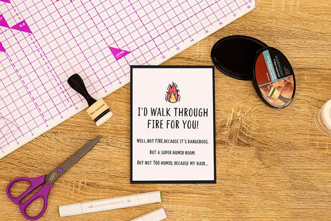 Crafter's Companion Clear Acrylic Stamp - Walk Through Fire