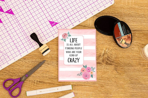 Crafter's Companion Clear Acrylic Stamp - Your Kind of Crazy
