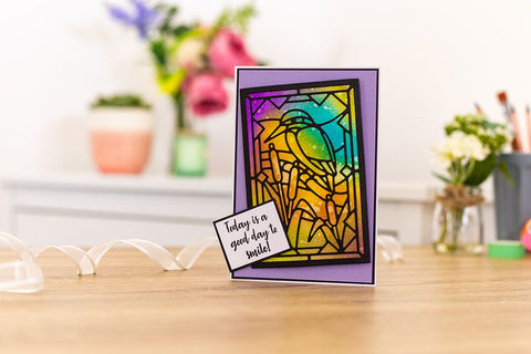 """Crafters Companion 5"""" x 7"""" Rectangle Window Aperture - Die Cut Card Bases and Envelopes"""