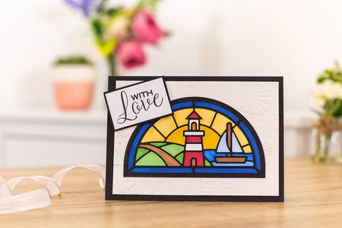 Crafters Companion Gemini Stained Glass Window Die - Land and Sea Window