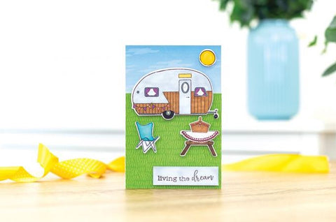 Crafters Companion Gemini Staycation The Simple Life Stamp and Die