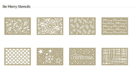Couture Creations Christmas Stencils