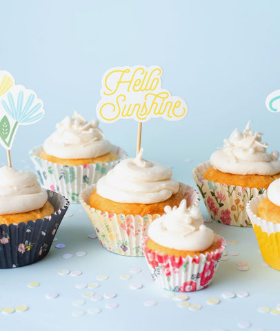 Homemade With Love - Treat Toppers - Hello Sunshine (12 pieces)
