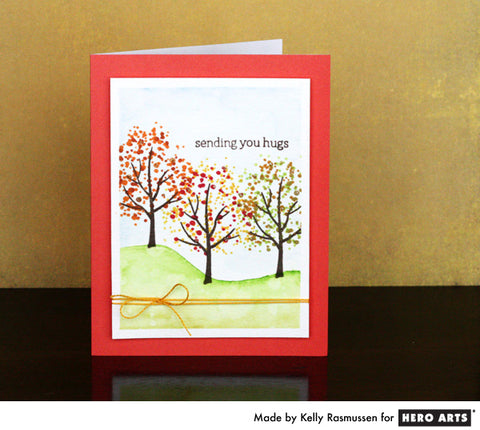 HERO ARTS COLOR LAYERING FALL TREES STAMP