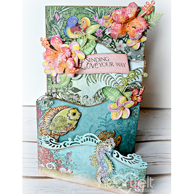 Coral Reef Collage Cling Stamp