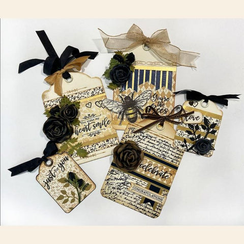 Graphic 45 -  Floral Background Stamps