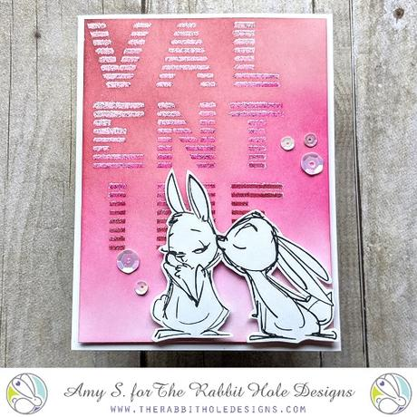The Rabbit Hole Designs - Je t'amie 3x4 Stamps